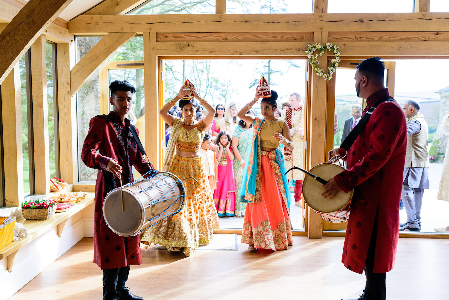 Colourful lively Indian wedding ceremony