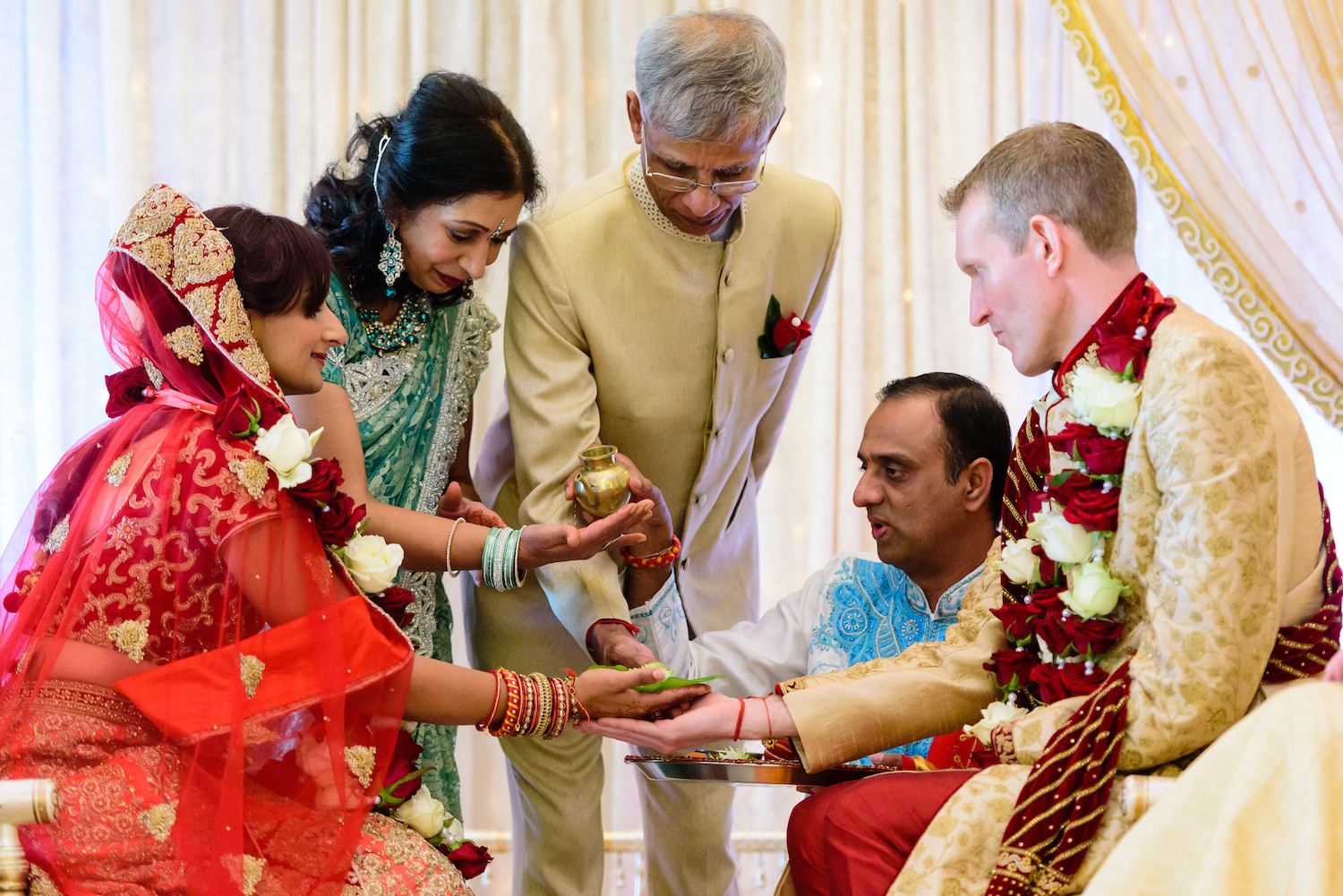Indian wedding blessing
