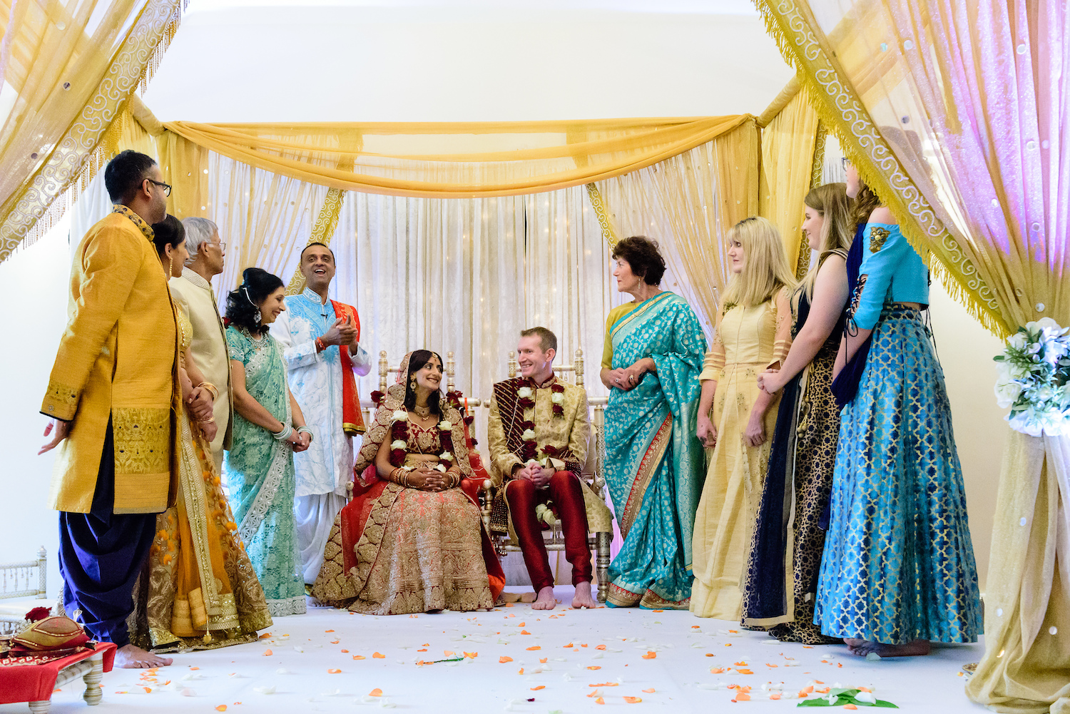 Indian wedding celebration modern wedding venue