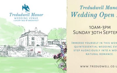 Wedding Venue Cornwall Open Day – Tredudwell Manor 30th September