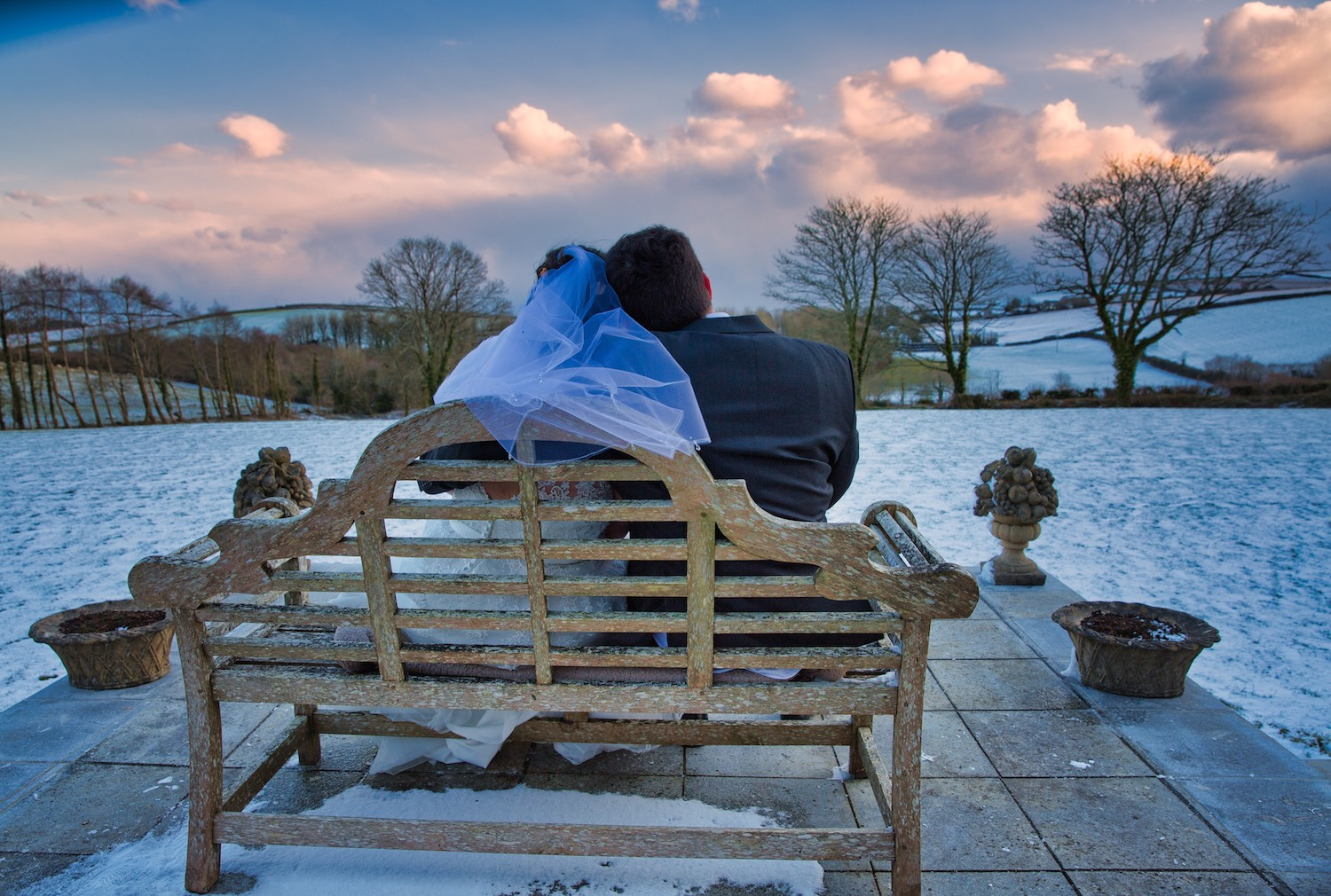 Cornish winter wedding romance